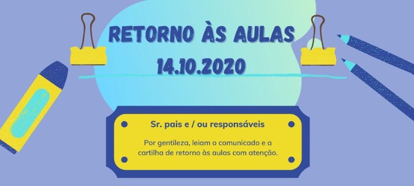 COMUNICADO IMPORTANTE - RETORNO ÀS AULAS