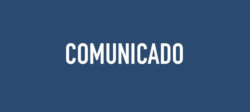 COMUNICADO - SUSPENSÃO DAS AULAS.